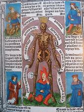 "Medieval 1510 Codex Facsimile ""PARISIAN BOOK OF HOURS"" 184 pages Velvet Cover"