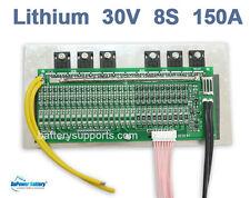 28V 29.6V 33.6V 150A 8x 3.6V 3.7V 8S Lithium LiPO Polymer Battery BMS PCB System
