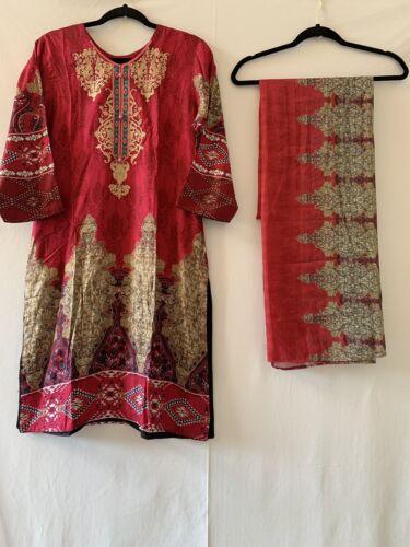 Indian Pakistani Shalwar Kameez Embroidered Women Stitch