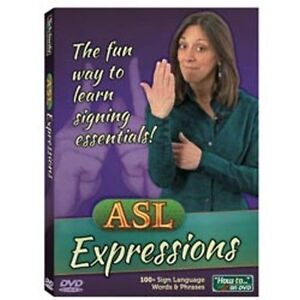 ASL-EXPRESSIONS-DVD-fun-way-to-learn-sign-language-phrases-Brand-New