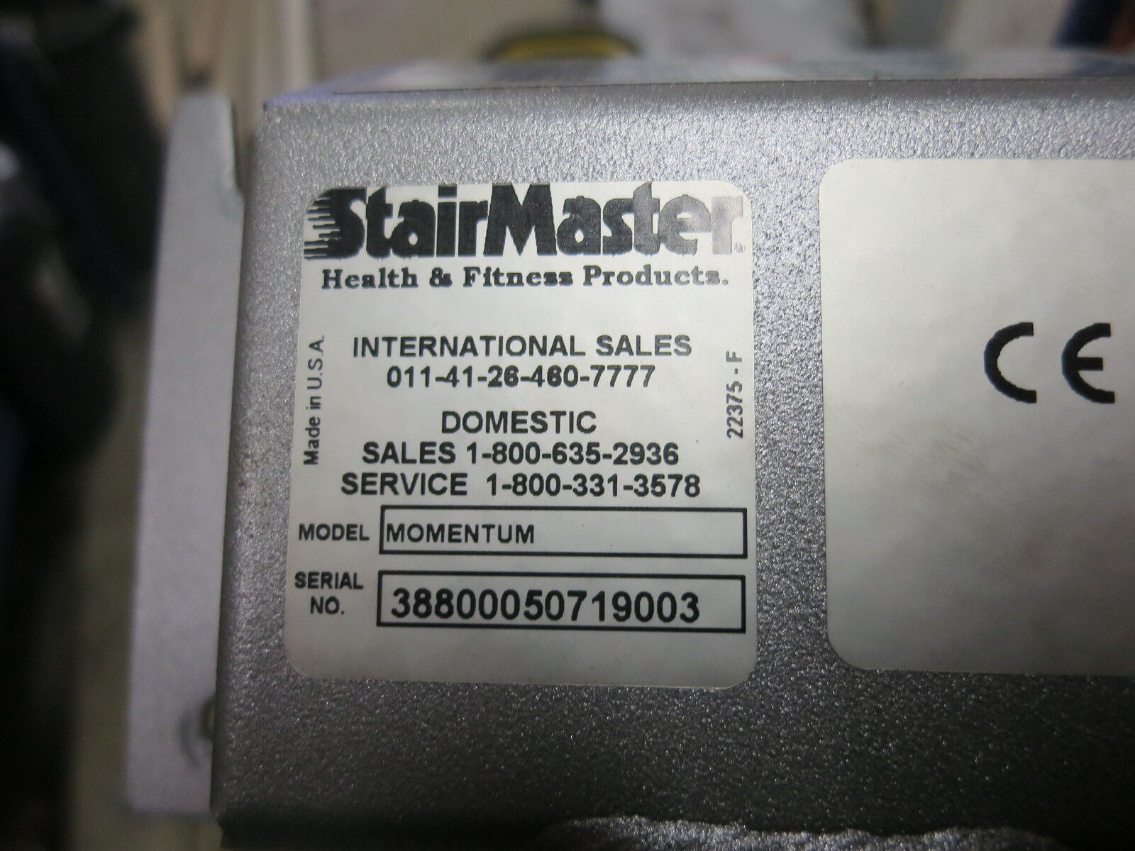 Stairmaster 3800 excentriques moyeux moyeux excentriques Assemblage 25606 a4709b