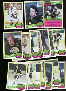1980-81 Boston Bruins OPC Team 18 Card Lot - No Bourque - Great Cond. O-Pee-Chee