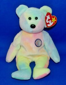 bedcdfa69d3 Ty B.B. BEAR Tye-Dye BB Birthday Bear 8.5