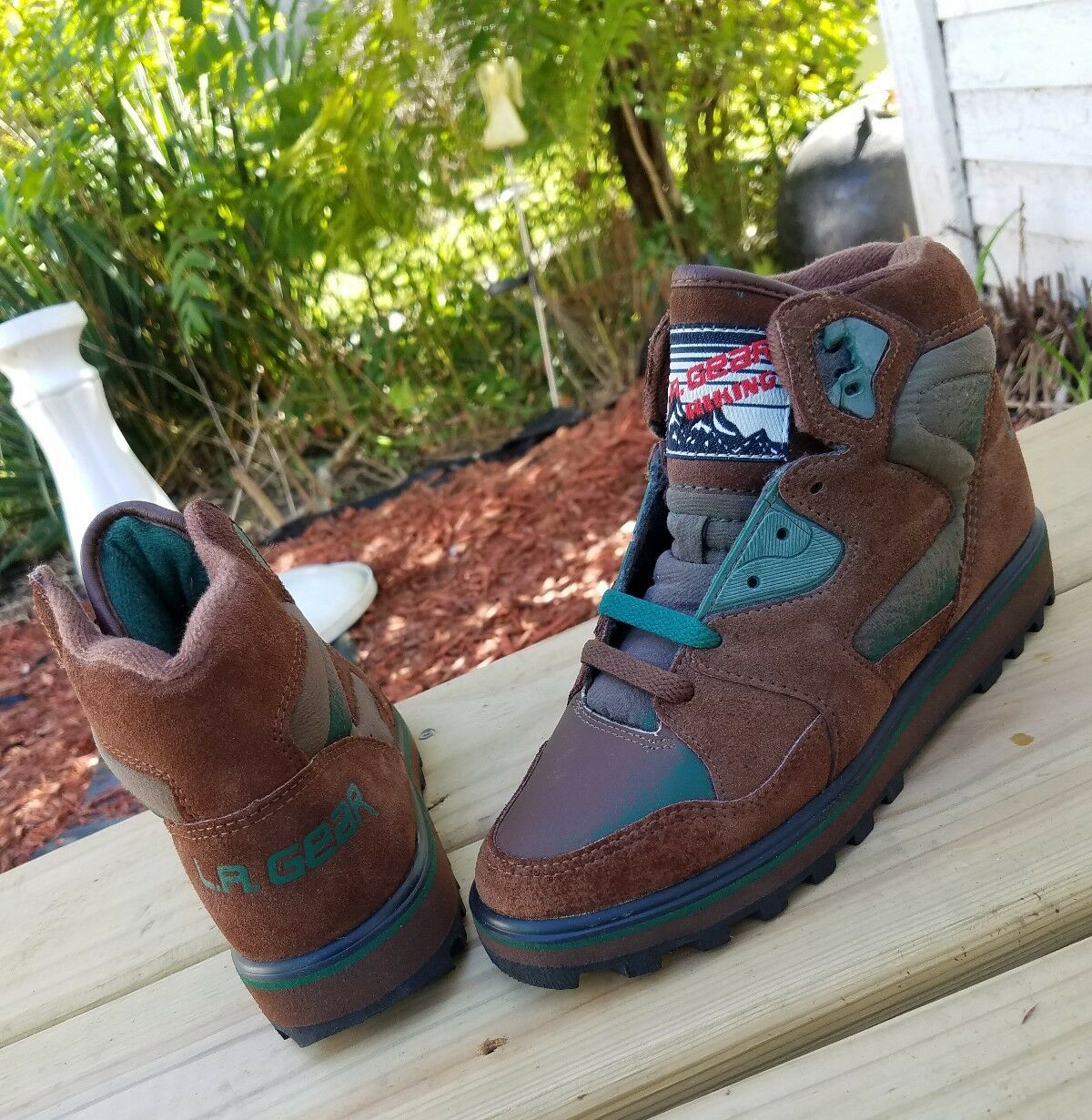 dcb72fa2ec6 RARE Gear Hiking Boots SIZE Suede Vintage shoes womens mens 6 5 nike jordan  LA 7 nrzdje7857-Athletic Shoes