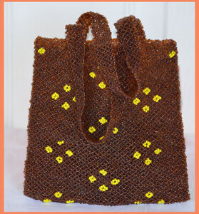 Brown-Color-Beaded-Hand-Bag-Evening-Bag-Tote-Clutch-from-India