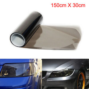 30cm-x-150cm-Light-Smoke-Black-Tint-Film-Headlights-Tail-lights-Car-Vinyl-Wrap