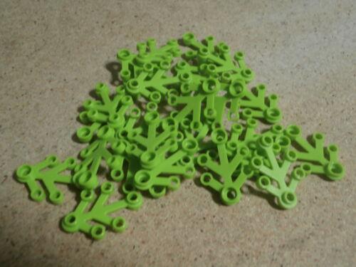 LEGO City 25 x Feuille de plante verte 3 x 4 Lime Plant Leaves Neuf
