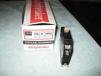 Ch115 Cutler Hammer Type Ch Breaker 1 Pole 15 Amp 240v Metal Foot 1/2 Notch