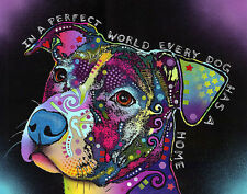 In a Perfect World Dean Russo Dog Motivational Inspirational Print Poster 8x10
