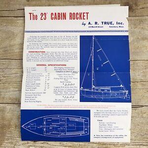 Vintage-Sailboat-Dealer-Sales-Brochure-23-Cabin-Rocket-AR-True-1953-Prices