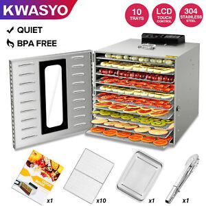 KWASYO-10-Tray-1000W-Stainless-Steel-Food-Dehydrator-Vegetable-Jerky-Fruit-Dryer