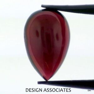 Red Garnet Cabochons 5*8mm pears 1st quality