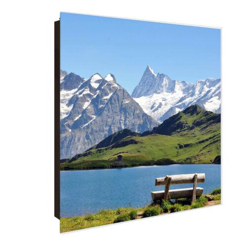 Großer Glas Schlüsselkasten 30x30cm von banjado bis 50 Schlüssel Alpen