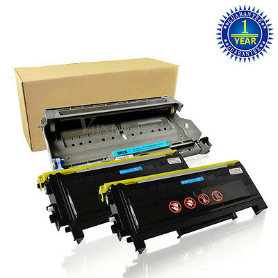 2x TN350 Toner + 1x DR350 Drum For Brother Intellifax 2820 2920 HL-2040 MFC-7420