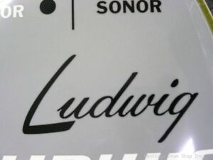 Ludwig-Black-Vintage-40-039-s-Logo-Replacement-Sticker-Hi-Quality-3M-Vinyl