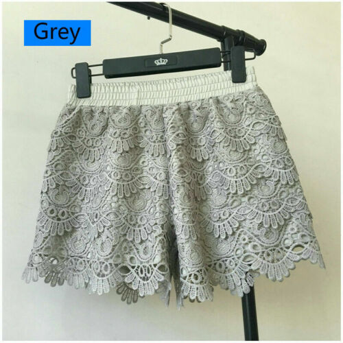 Lady Lace Shorts Patchwork Safety Hot Pants Elastic Waisted Mini Trousers Casual