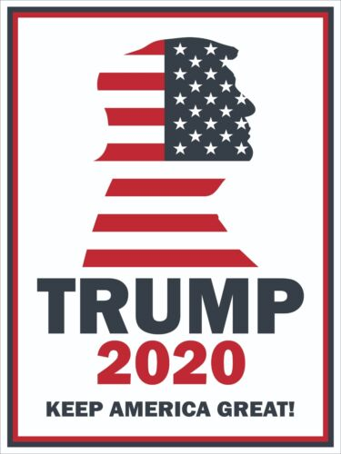 """24 PACK Donald Trump 2020 Keep America Great 12/""""x16/"""" Yard Signs 2 side w//stake"""