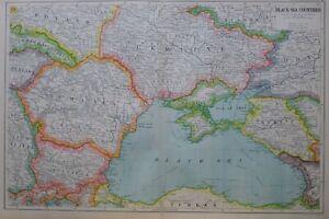 1919-MAP-BLACK-SEA-COUNTRIES-CRIMEA-KUBAN-TAURIDA-ODESSA-BESSARABIA-RUMANIA