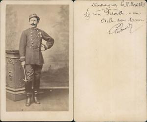 Dunkerque, Militaire en pose, 1876 CDV vintage albumen carte de visite -  Tira