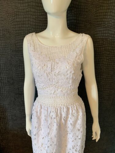 Dress Floral Out 16 White Selfridge Excellent Midi Miss Cut Condition FaCgCq