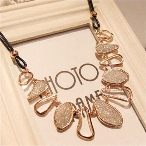 Women Charm Choker Bib Fashion Chain  Statement Collar Pendant Necklace Jewelry