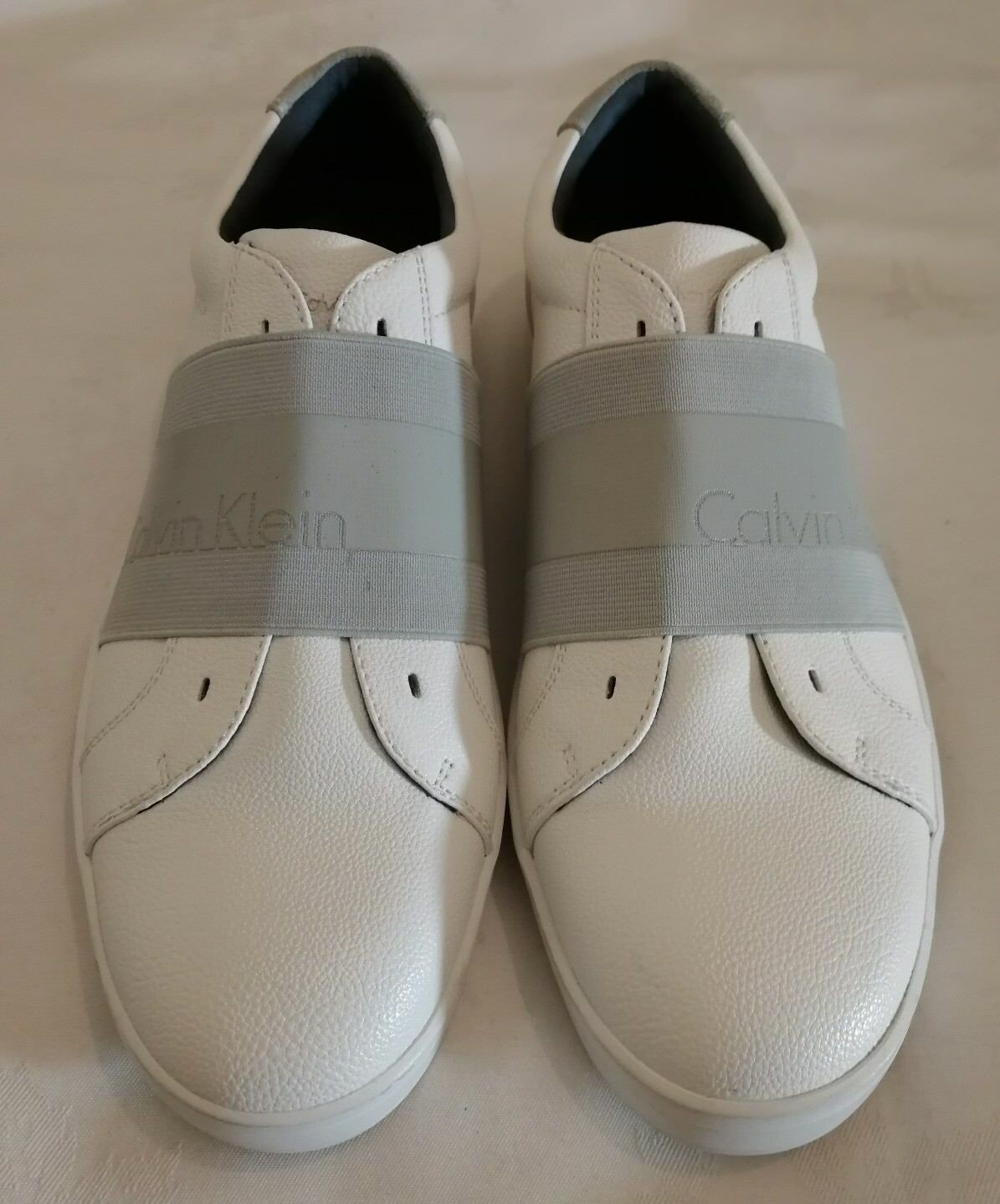 Calvin Klein Baltic Men's Slip on Sneakers Trainers eu WEISS Größe uk 9 eu Trainers 43 9fe269