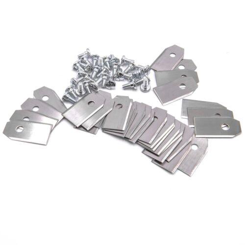 Schrauben für Gardena R160Li 30x Klingen Messer Stahl 0,75mm Sileno+ Sileno