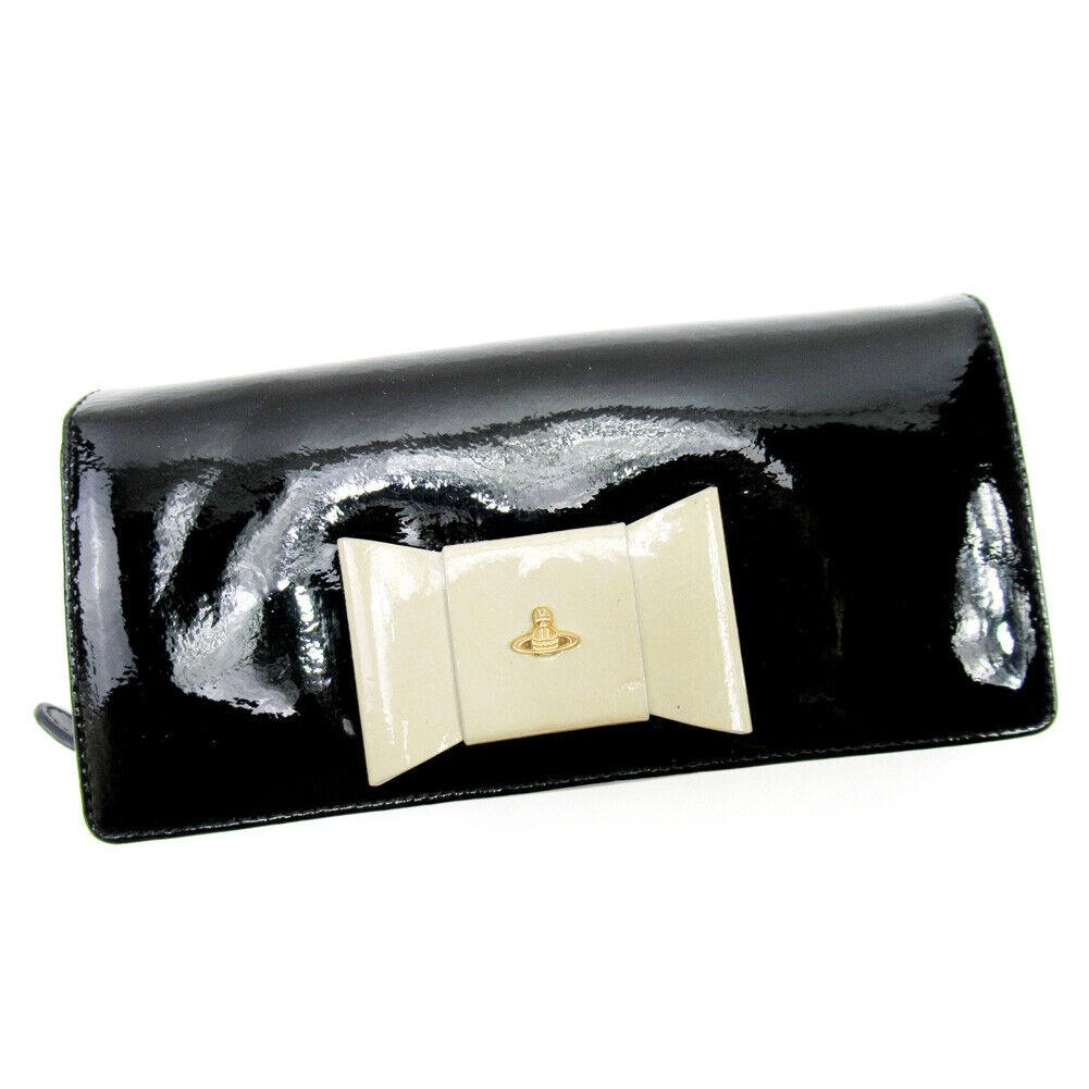 Auth Vivienne Westwood purse ribbon motif enamel leather Auth D2192