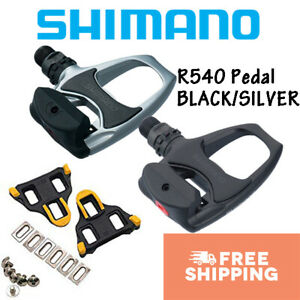Shimano PD-R540 SPD-SL Road Bike Clipless Bicycle Pedals With Cleats Black New