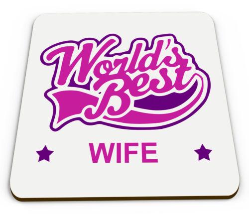 Mondes meilleur Femme Nouveauté brillant Tasse Coaster-Rose