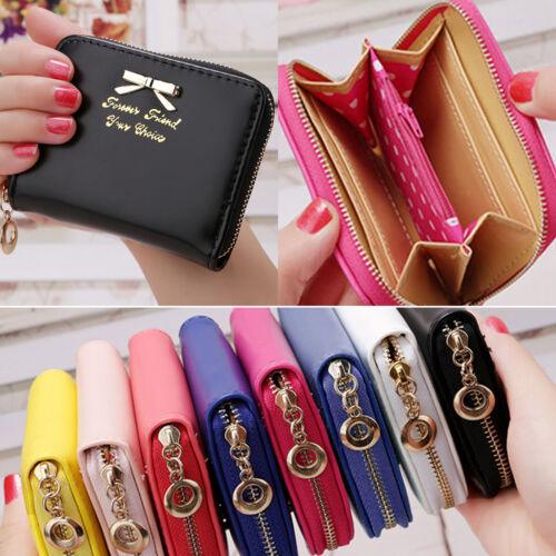 Women Girl Mini Wallet Zipper Card Holder Coin Purse Small Portable Money Clutch