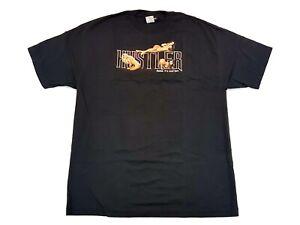 Vintage-Hustler-Magazine-Centerfold-Pin-Ups-Tee-Black-Size-XL-Mens-T-Shirt