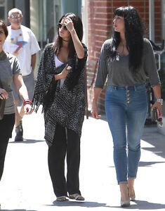 Mønster Sjælden Cardigan Mennesker Fring Aso Sort Selena Xs s Gratis Gomez Kimono 8EwBw