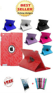 Leather-Bling-360-degrees-rotating-iPad-mini-3-2-1-case-cover-protector-amp-stylus