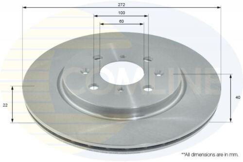 NEW COMLINE FRONT BRAKE DISCS SET BRAKING DISCS PAIR GENUINE OE QUALITY ADC0936V