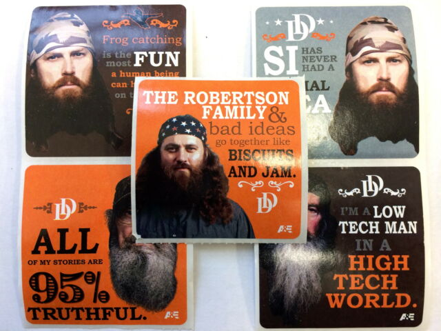 15 Duck Dynasty Robertson Family Sayings Commander  Stickers Party Favors Call