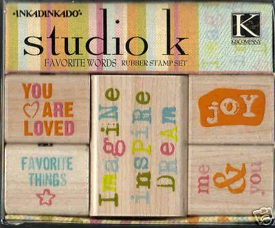 K&Company Inkadinkado Studio K Stamps Favorite Words