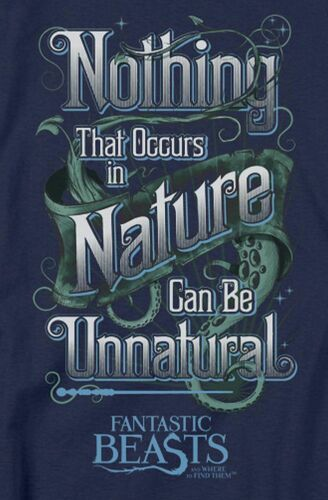 """Babydoll Tee Details about  /Fantastic Beasts .../""""Unnatural/"""" Women/'s Adult or Girl/'s Jr"""