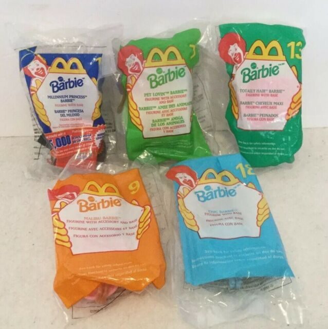 Lot Of McDonald's Happy Meal Toys Sealed Barbie