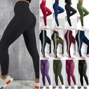 Women-Yoga-Pants-Ladies-Fitness-Leggings-Running-Gym-Exercise-Sports-Trousers