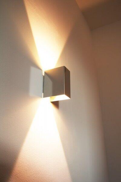 Design LED Faretto Parete Luce Corridoio Ingresso Salotto Ufficio Cucina Lampada Cromo
