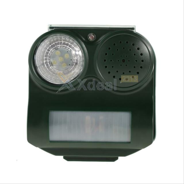 Ultrasonic Solar Powered Cat Dog Rat Repeller Animal Chaser Deterrent Repellent