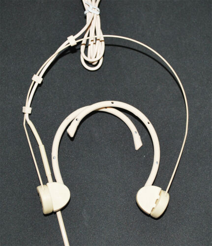 Omnidirectional Foldable earhook Headset Microphone compatible w// SHURE Beige
