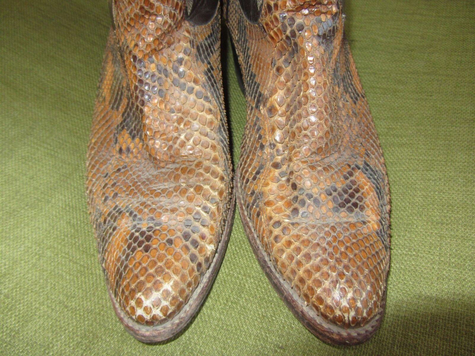 Dan Post Uomo Exotic Western Python Snakeskin stivali SZ 8.5D 8.5D 8.5D BUT FITS LIKE 7.5 D 9ba2a7