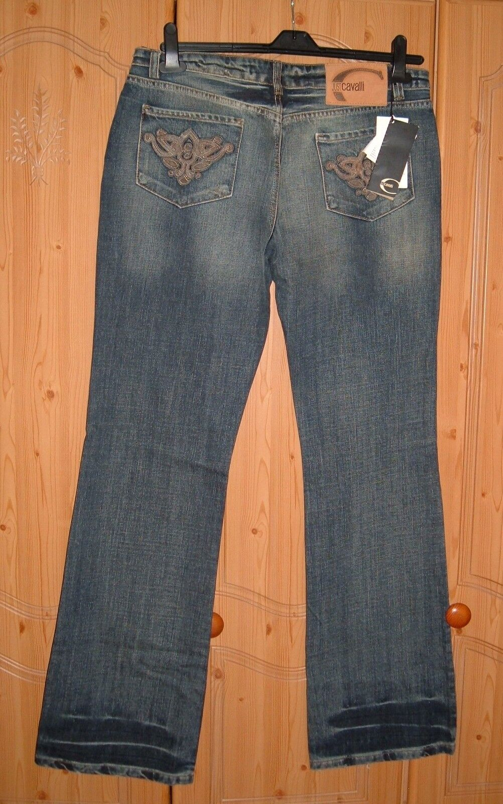 NEW AUTHENTIC Roberto Just Cavalli Low Rise Jeans Italian 34 48 - RRP