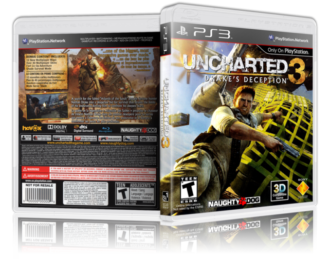 Uncharted 3 Drake S Deception Replacement Ps3 Cover And Case