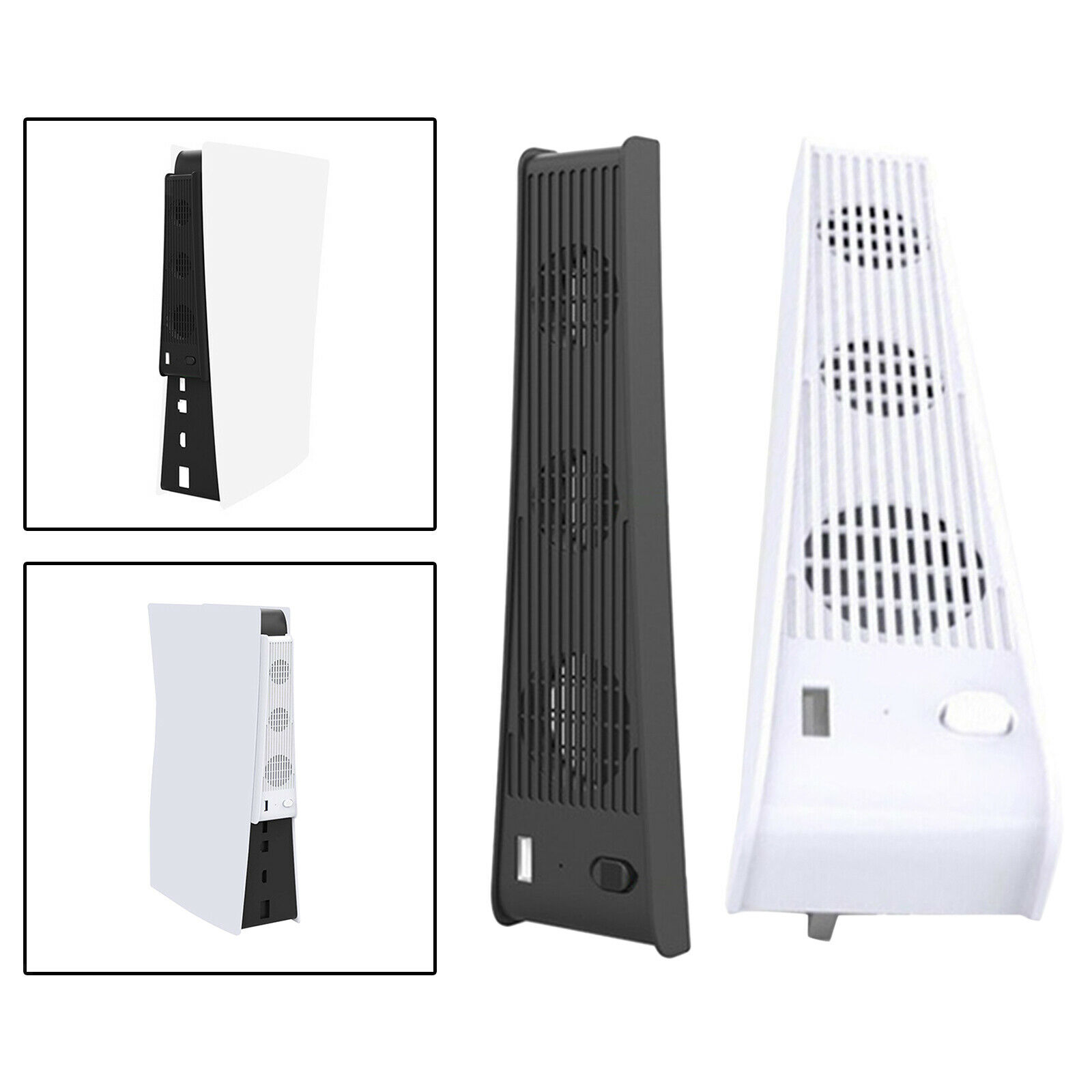 2 in 1 3-FanHost Cooling Fan for PS5 Console Optical Drive Version Gaming Needs