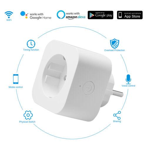 Smart Steckdose Wifi Funktioniert WLAN Fernbedienung für Google Home 1-4X