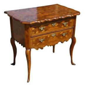 Competent 18th Century Dutch Marquetry Lowboy Tables