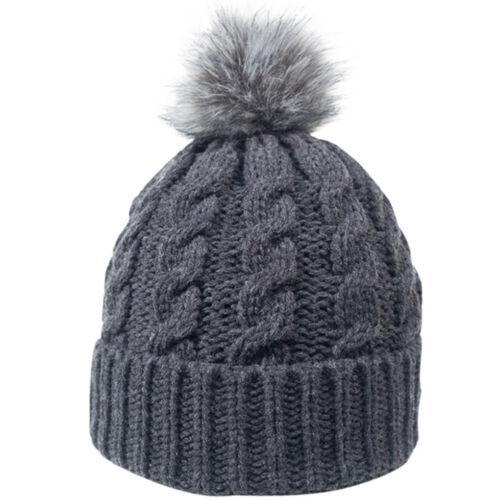 Ladies Women Warm Winter Knitted Pom-Pom Skull Cap Beanie Ski Baggy Crochet Hat